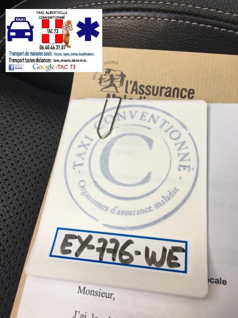Logo Taxi Albertville Conventionné.
