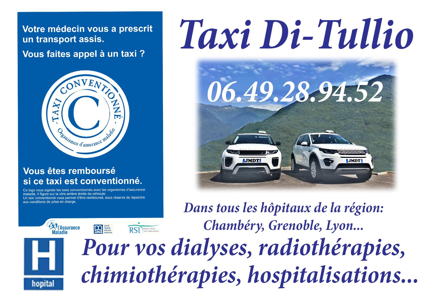 Taxi Di Tullio agréé Cpam, conventionné sécurité sociale.