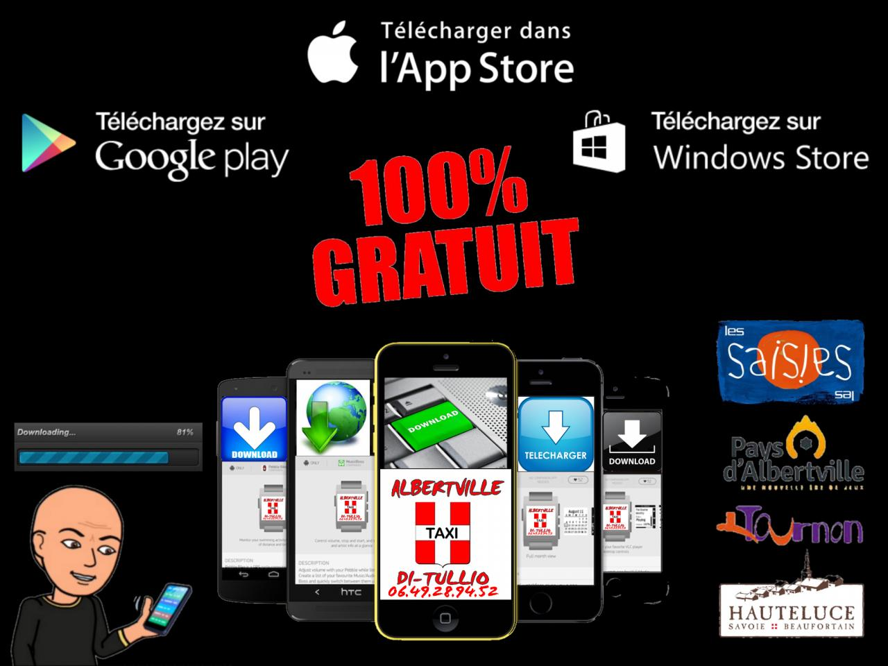 Taxi Di Tullio Apple Store, Google Play, Windows Phone.