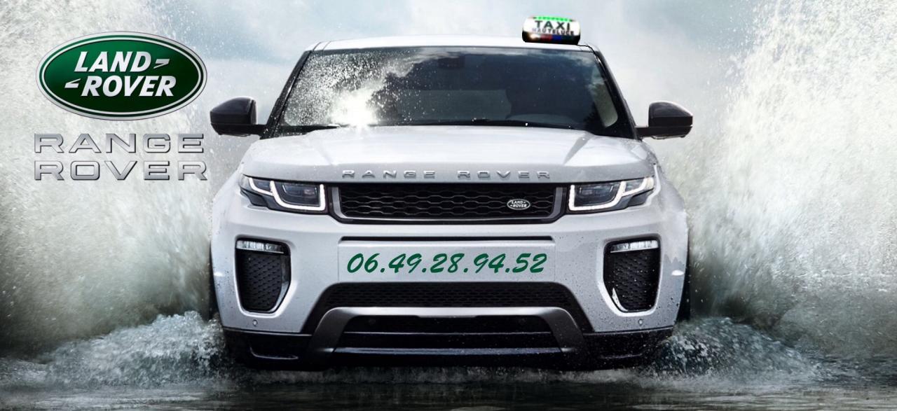Taxi Range Rover Evoque SE Dynamic Albertville, Les Saisies, Hauteluce, Tournon...
