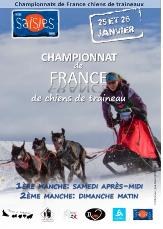 Championnat de France de Course de Chien de Traîneau aux Saisises