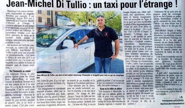 Jean Michel Di Tullio le Taxi de la Gare d'Albertville