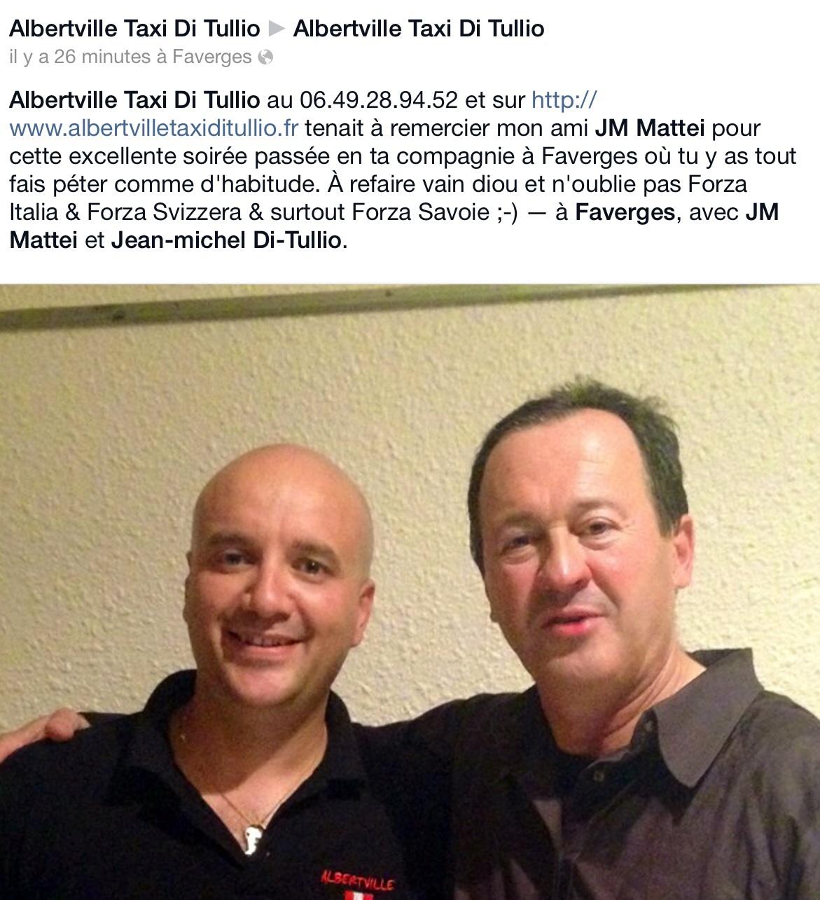 Taxi Albertville & JM Mattei sur Facebook