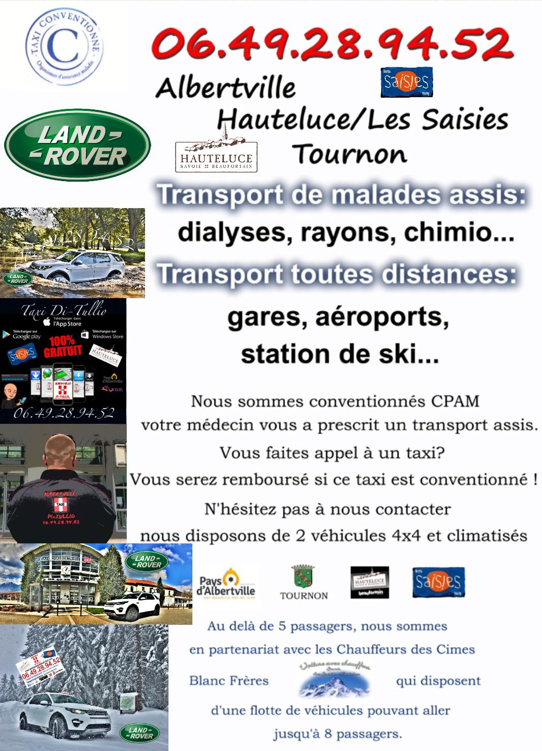 Taxi Albertville, Taxi Les Saisies, Taxi Hauteluce.