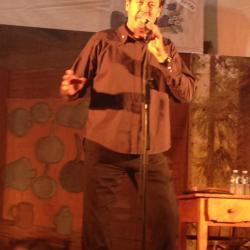 Jean Michel Matteï sur scène à la Giettaz