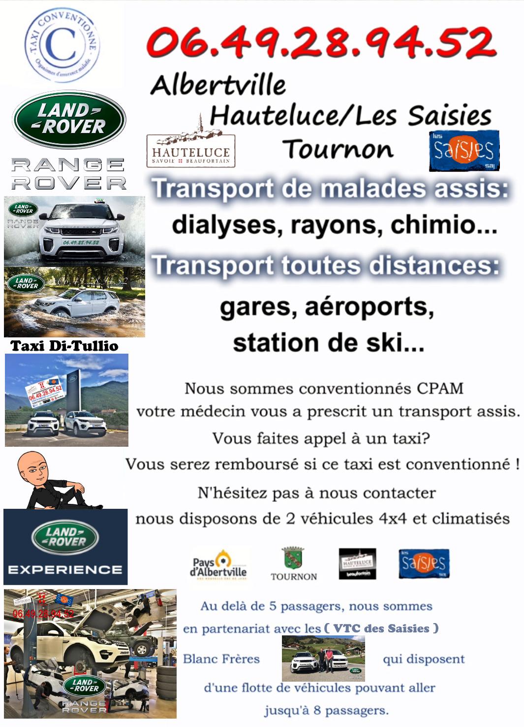Taxi Albertville, Taxi Les Saisies, Taxi Hauteluce, Taxi Di Tullio.